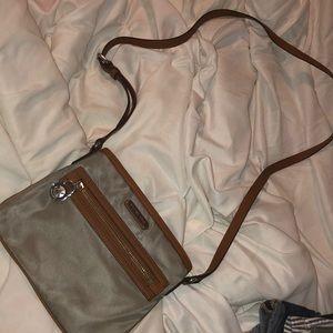 Grey MK crossbody purse